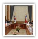 Presidente Corea Sur recibe Chile
